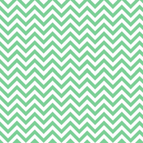 Mint Chevron Pattern