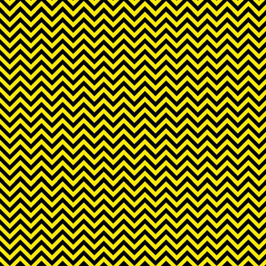 Chevron Black and Yellow Pattern