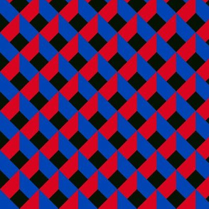 OPTICAL ILLUSION LOZENGE red blue