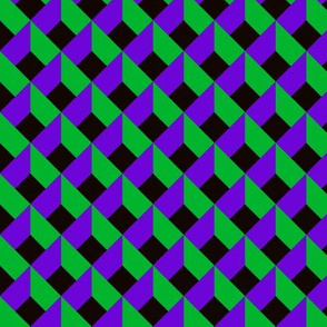 OPTICAL ILLUSION LOZENGE PURPLE GREEN