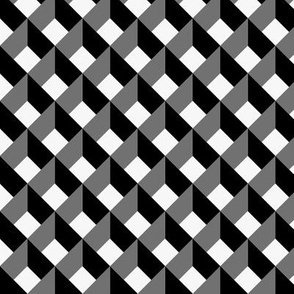 OPTICAL ILLUSION LOZENGE WHITE AND BLACK