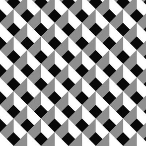 OPTICAL ILLUSION LOZENGE BLACK AND WHITE
