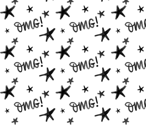 OMG stars - big pattern fabric by howjoyful on Spoonflower - custom fabric