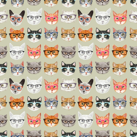Spectacular Cats fabric by cynthia_arre on Spoonflower - custom fabric