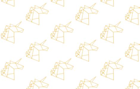 Geometric unicorns-gold fabric by laurajohanna on Spoonflower - custom fabric