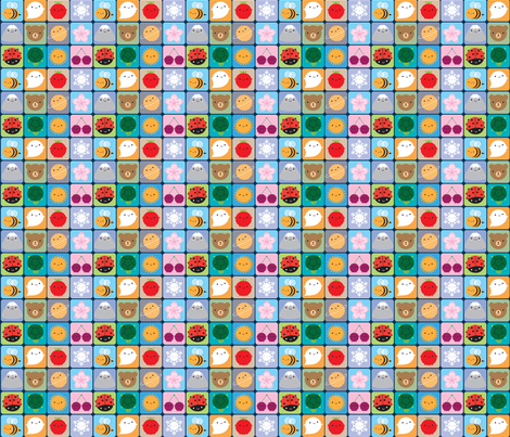 Kawaii Seasons fabric by marcelinesmith on Spoonflower - custom fabric