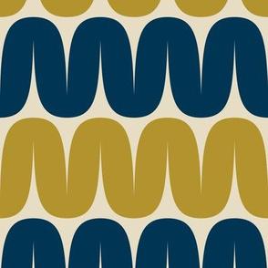Retro wavy pattern
