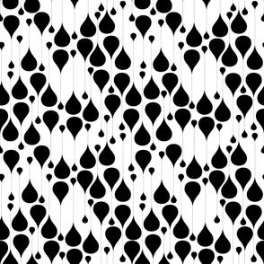 Monochrome waterdrops pattern