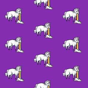 Large Unicorn and Rainbow on Grape