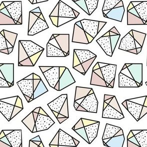 Polygonal stones and gemstones