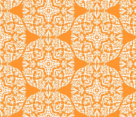 Coral Dome Orange fabric by kirstenkatz on Spoonflower - custom fabric