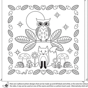 KIDS CRAFT COLOURING CUSHIONS