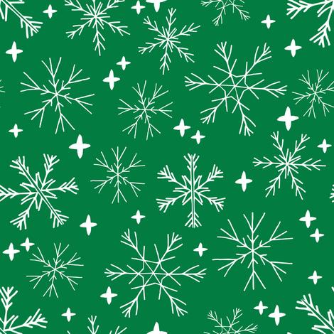 winter snowflakes // winter christmas design christmas fabric cute winter snowflake fabric fabric by andrea_lauren on Spoonflower - custom fabric