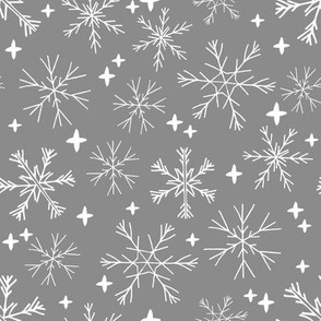 winter snowflakes // grey cute snowflakes best winter snow snowflake design by andrea lauren