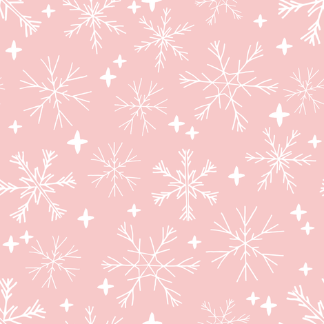 winter snowflakes pastel pink cute snowflakes best holiday
