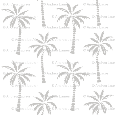 palm tree // simple black and white grey nursery palm print trendy kids summer print