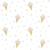 Ice cream on white
