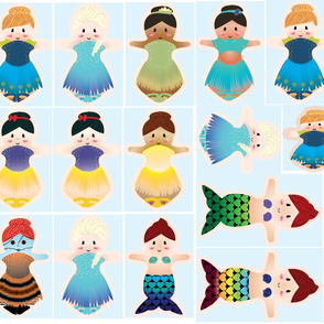 Yard cloth doll pads mix designs mix sizes