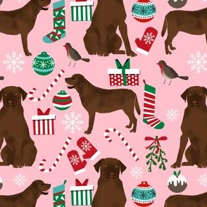 chocolate lab christmas fabric cute labrador retriever design best lab xmas holiday fabric cute labrador christmas