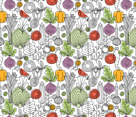 Vegetables fabric by adehoidar on Spoonflower - custom fabric