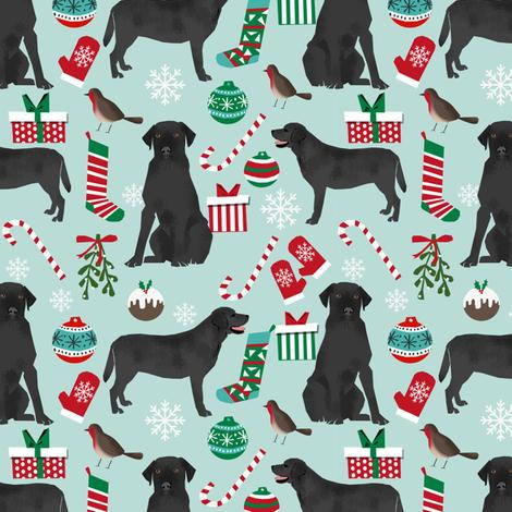 Black lab christmas fabric cute  labrador design cute christmas labrador retriever fabrics cute dogs fabric by petfriendly on Spoonflower - custom fabric