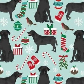 Black lab christmas fabric cute  labrador design cute christmas labrador retriever fabrics cute dogs