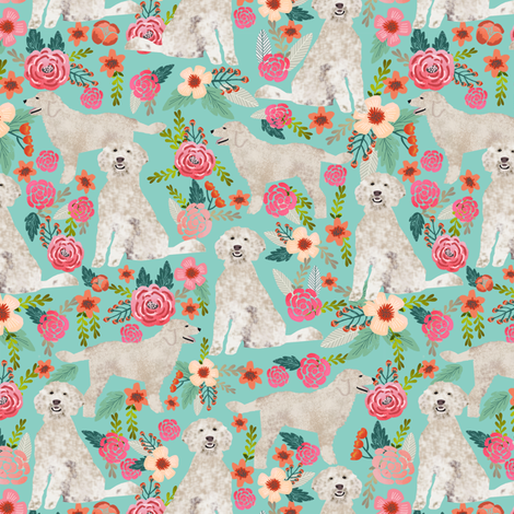 golden doodle dog fabric cute golden doodles design best golden doodles fabric sweet florals flowers cute doodles dog fabric by petfriendly on Spoonflower - custom fabric