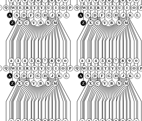 typewriter abc alphabet pattern fabric by veerapfaffli on Spoonflower - custom fabric