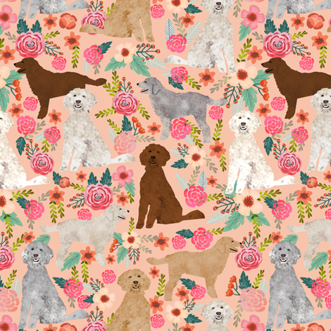 golden doodles dog floral fabric cute golden doodles design best golden doodles fabrics fabric by petfriendly on Spoonflower - custom fabric