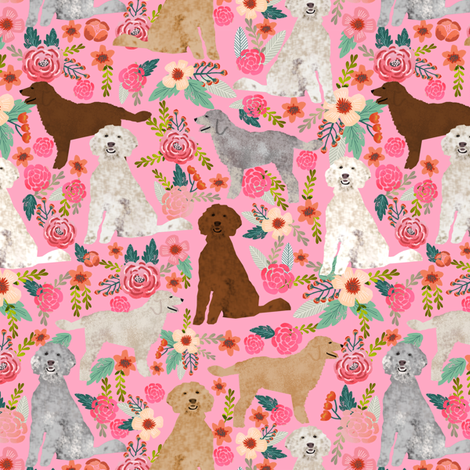 golden doodle fabric cute golden doodles design best golden doodles coats and colors florals cute dog fabric fabric by petfriendly on Spoonflower - custom fabric