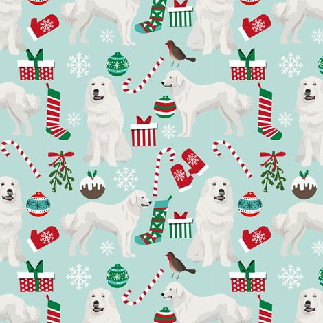 great pyrenees dog fabric cute dog design best christmas dogs fabric cute dogs best christmas fabrics fabric by petfriendly on Spoonflower - custom fabric