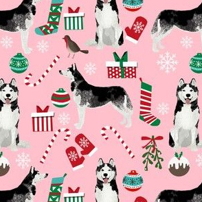 husky christmas dog fabric cute siberian husky print cute dog christmas design best dogs fabric cute dogs