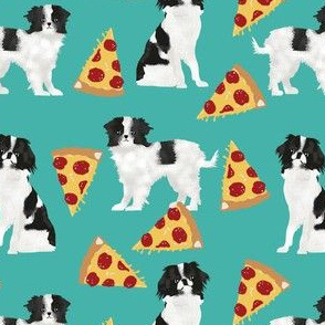 japanese chin dog pizza fabric cute japanese toy breed dog fabric cute dogs fabric funny pizza fabric