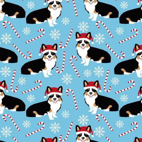 corgis christmas fabric cute corgi design xmas corgi fabrics corgi design fabrics fabric by petfriendly on Spoonflower - custom fabric