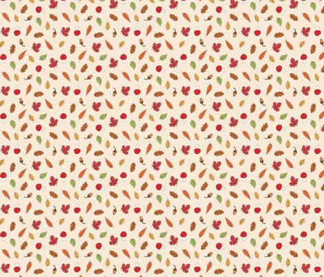Autumn_woodland_leaves_cream_coloured_ditsy_150_hazel_fisher_creations_shop_preview