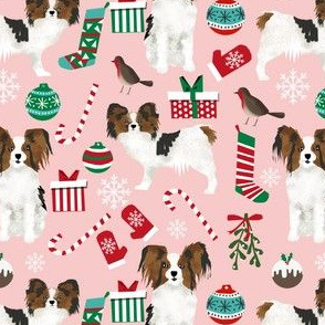 papillon christmas design cute dogs fabric papillon dog fabric cute christmas dogs best christmas dog design