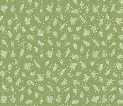 Woodland_leaves_green_and_white_150_hazel_fisher_creations_shop_preview