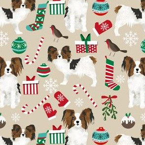 papillon dog christmas cute christmas dog design best dogs cute papillons christmas fabric