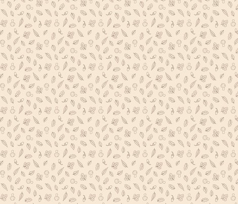 Woodland_leaves_simple_cream_ditsy_150_hazel_fisher_creations_shop_preview