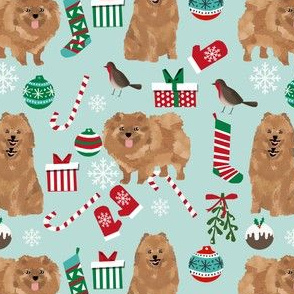 pomeranian christmas fabric cute pomeranian dog design cute dogs best toy dogs christmas fabric cute dog