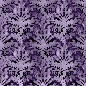 Purple HDR Watercolor Brocade