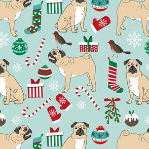 pug christmas fabric cute pugs design xmas holiday pugs fabric cute pug christmas fabric