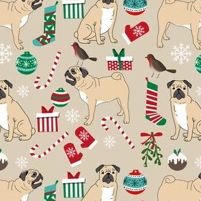 pug christmas fabric cute pug dog design cute pugs best pugs fabric cute pug design