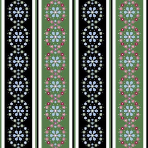 Medallion Border_black and green
