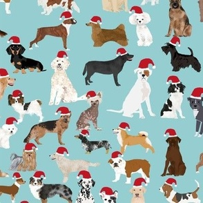 santa paws fabric cute christmas dogs fabric christmas dog design santa hats christmas fabrics