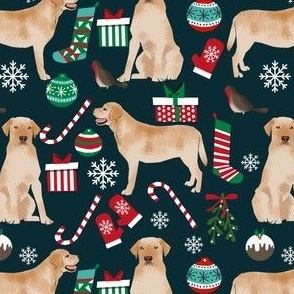 yellow lab christmas fabric cute labrador retriever design best yellow lab christmas fabric