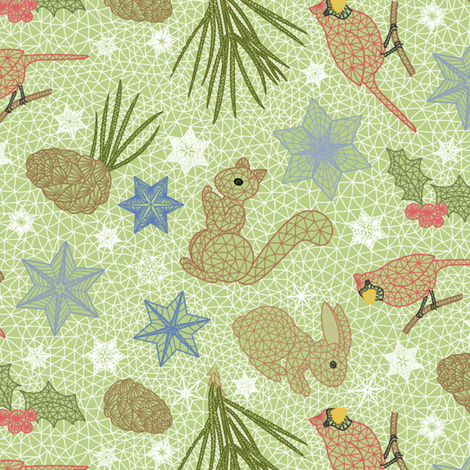 WoodlandLace fabric by blairfully_made on Spoonflower - custom fabric