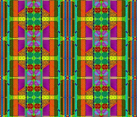 Asian Geometry fabric by robin_rice on Spoonflower - custom fabric
