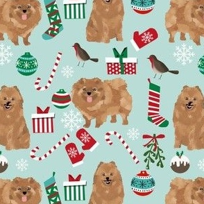 pomeranian dog fabric cute pom dog christmas fabrics best pets fabrics
