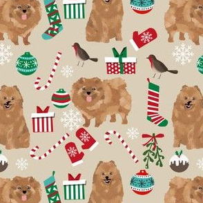 pomeranian dog christmas cute xmas holiday dogs design pomeranians dog fabric cute christmas designs